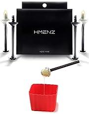 【 信頼の日本製 鼻毛 ワックス 】HMENZ メンズ ブラジリアンワックス 鼻毛用 『 シアバター & ホホバオイルで鼻粘膜に優しい 』(ハードワックス ゴッソ リ 脱毛 棒 カップ 付き キット) スティック 24本 12回分