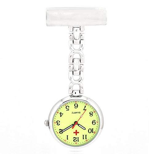 ZzheHou Krankenschwester Uhr Doktor Krankenschwester Uhr Clip Art Hängen Medizinische Taschenuhr Unisex Quarz Hängen Taschenuhr Medizinische Uhr des Krankenschwesterdoktors