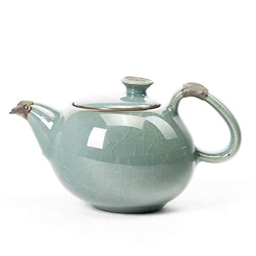Wghz Tetera de Moda Tetera de cerámica Teteras de té Kungfu para Estufa con infusores Tetera Suelta Control de Temperatura en teteras de hogar y Cocina (Tamaño: 140ML)