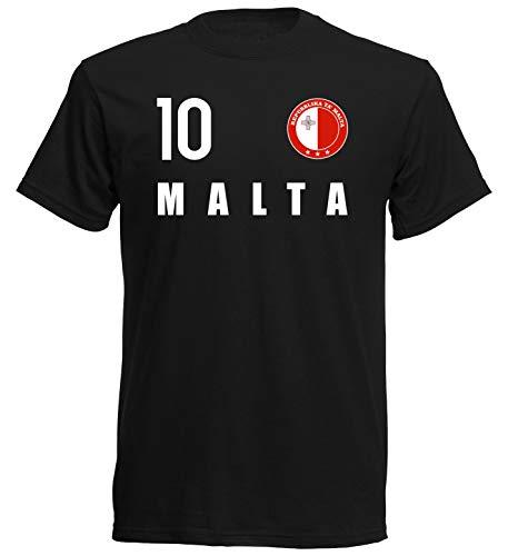 nationshirt T-Shirt Kinder Malta Trikot Look Emblem FH 10 SC (116)