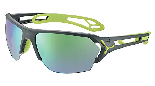 Cébé S'Track L Gafas de sol Adultos unisex Matt Grey Lime Large