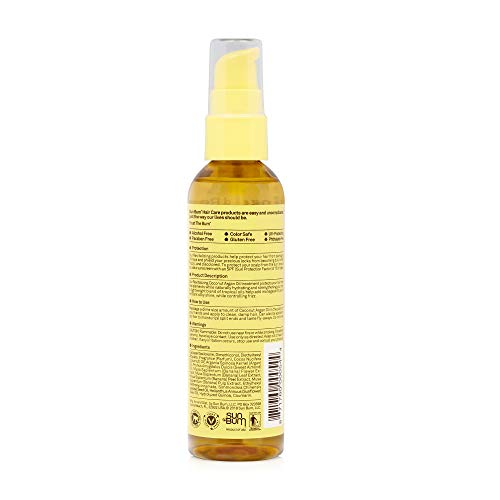 Sun Bum Coconut Argan Oil | Vegan and Cruelty Free Protecting and Strengthening Oil for All Hair Types | 3 oz, Clear, Model:80-41040