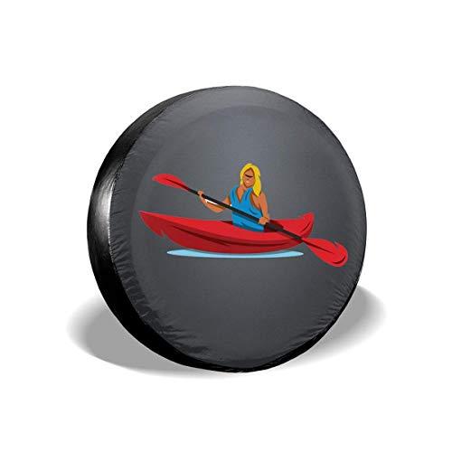 shenguang Cubierta de neumático de Repuesto para Canoa Cubiertas de neumático de Rueda de Repuesto universales para vehículos recreativos, SUV, remolques, Camiones