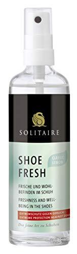 Solitaire Shoe Fresh Deo-spray 100 ml neutraliseert onaangename geuren in schoenen met een frisse citroengeur