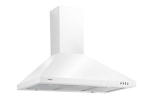 Ancona WPPW436 Wall-Mounted Classic Pyramid Style Convertible Range Hood, 36-Inch, White