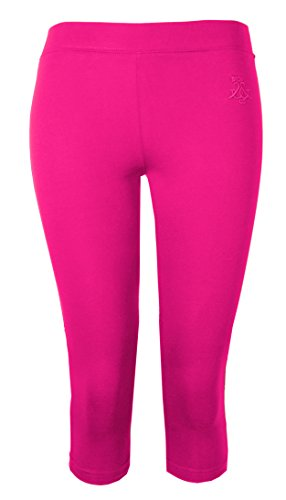 Brody & Co. Damen Leggings Crop Caprihose 3/4 Gym Cropped Leggins Dance Yoga Gr. Large/X-Large, kirschrot