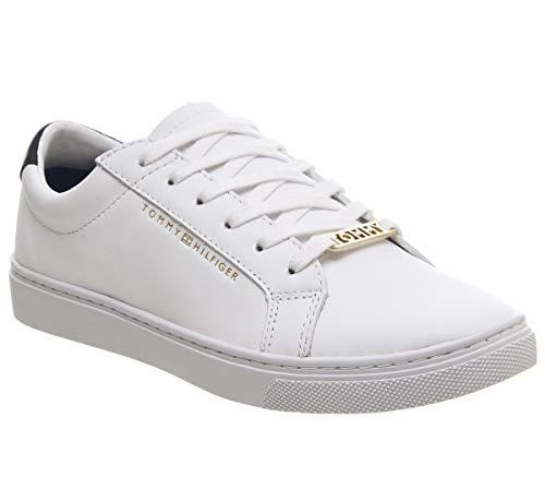 Tommy Hilfiger Essential Sneaker, Zapatillas para Mujer, Blanco (RWB 020), 38 EU