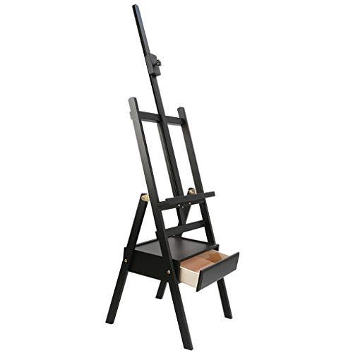 Easel Schilderij Stand met Lade Box Easel Multi-Functie Reclame Schets Aquarel Sketch Bracket Easel Zwart
