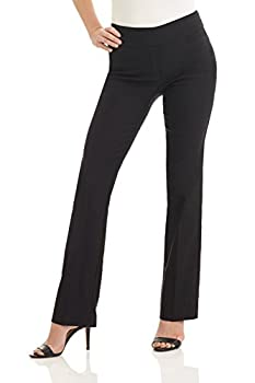Rekucci Women s Ease into Comfort Boot Cut Pant  10 Black
