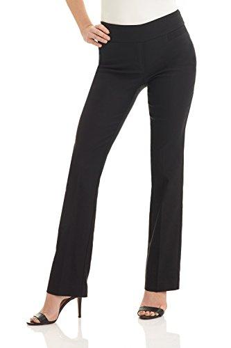 Rekucci Women s Ease into Comfort Boot Cut Pant (18, Black)
