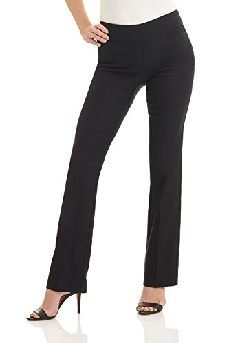 Rekucci Women's Ease into Comfort Boot Cut Pant (2,Black)