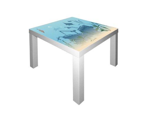 STIKKIPIX Unterwasserwelt Möbelsticker/Aufkleber für den Tisch Lack von IKEA - IM34 - Möbel Nicht Inklusive