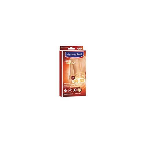 Hansaplast Spiral Heat Parche térmico lumbar y cervical, parches de calor para músculos tensos y rígidos, para el alivio del dolor lumbar, 1 x 1 parche