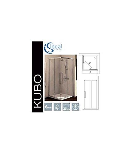 Ideal standard kubo a lato 100 profili brill lucido vetro trasparente