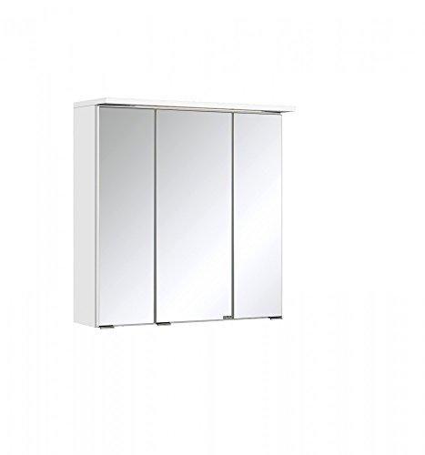Held Möbel Bolgona Spiegelschrank, Holzwerkstoff, Weiß, 20 x 60 x 68 cm