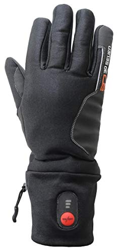 30seven Beheizbare Fahrradhandschuhe  Extra Warm - Elektrisch Beheizbare Handschuhe mit Accu - Heizhandschuhe Schwarz (XS)