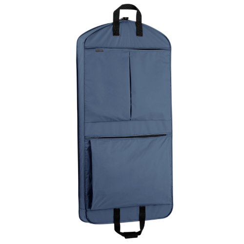 WallyBags 45' Extra Capacity Garment Bag with Pockets, Navy, 45 inch