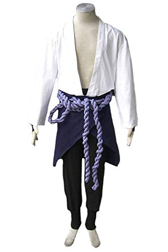 Karnestore Naruto: Shippuden Uchiha Sasuke Outfit Cosplay Kostüm Herren S