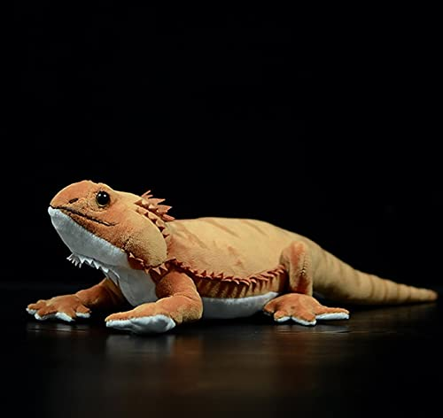 Simulación De Felpa De Lagarto León con Crin, Juguetes Blandos De Dinosaurios Lindos Hechos A Mano, Muñecos De Peluche De Animales Realistas, para Regalo De Niños, 46 Cm