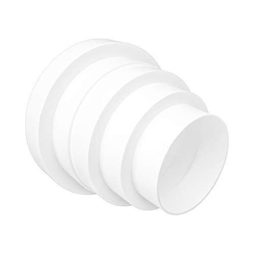 """- 3"""" to 6"""" Inch Universal Duct Reducer/Increaser. Conect Any Two 3"""" inch to 6"""" inch Flex or Straight ducts. HVAC. Heating. Cooling. Kitchen and Bathroom Applications."""