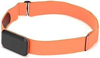 Gesh Correa de pecho para monitor de ritmo cardíaco, sensor de fitness, correa compatible con Wahoo Polar Connected para exteriores, color rojo