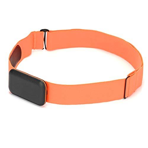 Varadyle Monitor de Frecuencia CardíAca Correa para el Pecho CinturóN Compatible con Sensor de Actividad FíSica Wahoo Polar Banda para Exteriores Conectada Naranja