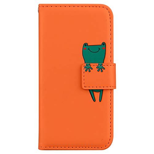 AsWant Hülle für Samsung S20 FE PU Leder Brieftasche Handyhülle Flip Stand Funktion Handy Schutzhülle mit Kartensteckplatz für Samsung Galaxy S20 5G Fan Edition 6,5 Zoll - Orange Frosch
