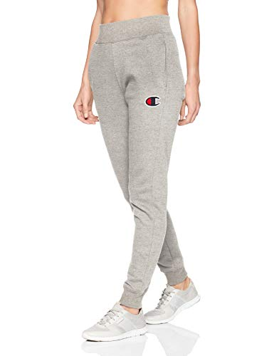 Champion LIFE Women's Reverse Weave Jogger, Oxford Grey/Chenille Script, Large