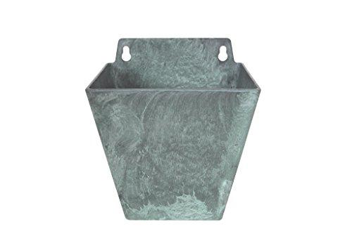 Artstone Wandtopf Pflanzgefäß Ella, frostbeständig und leichtgewichtig, 14 x 12 x 16 cm, grün