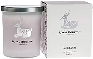 Royal Doulton The Scent of Christmas Soy Natural Candle. 40 Hour Burn. White Clove & Cinnamon 8.8 oz Limited Edition