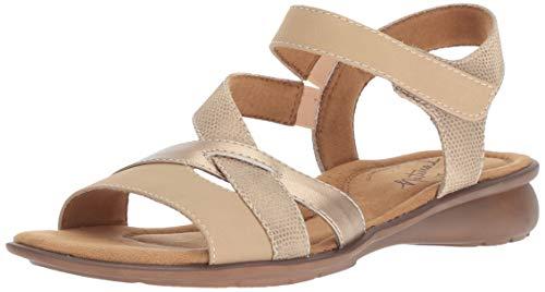 Natural Soul Womens Jordana Flat Sandal, Light Buff, 6 M US