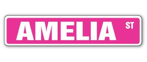 AMELIA Street Sign Childrens Name Room Decal Indoor//Outdoor