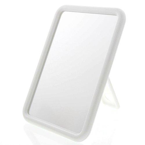 Weißer Standspiegel, Kosmetex Stellspiegel, Spiegel zum Aufhängen, Kosmetik-Spiegel