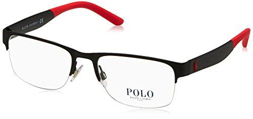 Ralph Lauren Herren 0PH1168 Brillengestell, Schwarz (Rubber Black), 55 EU