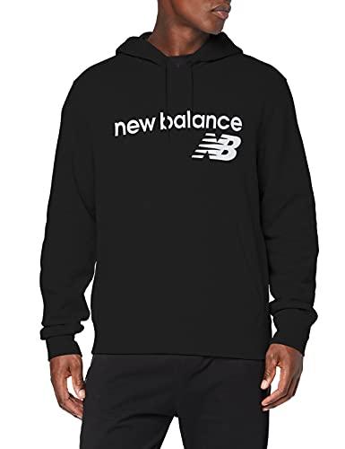 New Balance Sudadera con capucha de forro polar Classic Core para hombre, Hombre, Parte superior, MT03910, negro, M