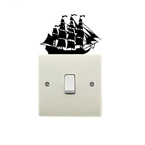 Viejo Pirata Velero Interruptor Pegatinas De Pared Calcomanías De Vinilo Decoración Del Hogar 5 Piezas