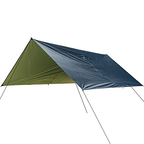 Geundampa Lona impermeable para tienda de campaña de 300 x 300 cm, ligera para camping, para camping, exterior, color negro, 300 x 300 cm