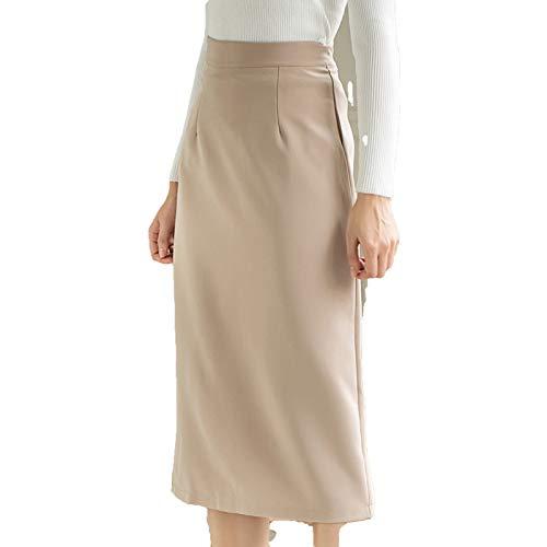 Faldas Nuevo 2020 Otoño Invierno Mujeres Midi Recto Paquete Hip Elegante Oficina Señora Moda Mujer