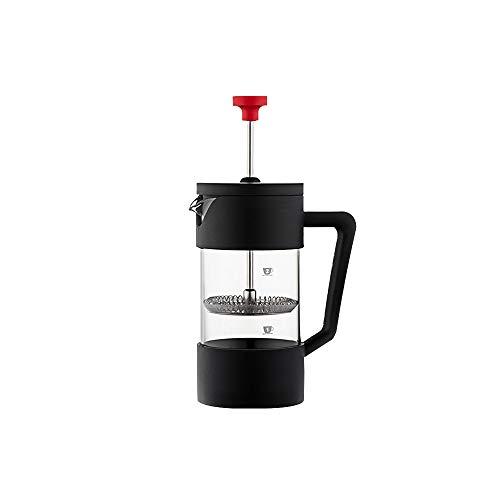 HaavPoois Prensa Francesa de café y té, Vaso de Vidrio de borosilicato Pyrex France y Filtro de Acero Inoxidable de Primera Calidad y Prensa de café con Acabado de cromo-350ml/600ml/1000ml