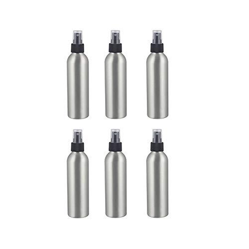 Kosmetik-Flaschen Aluminium-Druck Sprühflasche Zerstäuber Flasche 250 ml Kosmetik tragbare Gläser Pumpen Container Friseur Sprayer Reise 6Pcs (Color : Elbow connector, Material : Metal)