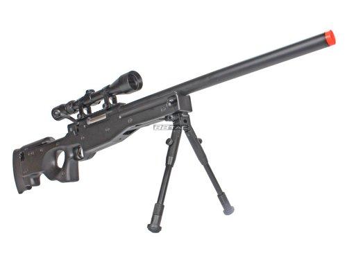 bbtac bt59 airsoft sniper rifle bolt action type 96 airsoft gun with 3x rifle scope and aluminum bipod(Airsoft Gun)