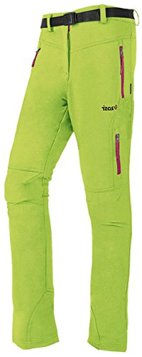 IZAS Osaje Pantalon de Montagne Femme XL Light Green/Fucsia