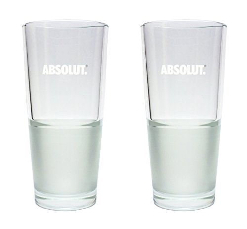 2 Absolut Vodka Longdrinkgläser 2cl/4cl - 2er Set