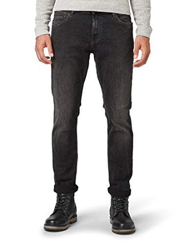 TOM TAILOR Herren Jeanshosen Josh Regular Slim Jeans Black Denim,38/34,10240,2999