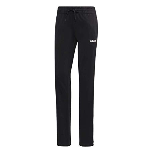 adidas Womens Essentials 3 Stripes Tricot Tapered Pants BlackWhite XX Large