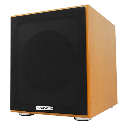 Cheap Rockville Rock Shaker 8 Classic Wood 400w Powered Home Theater Subwoofer Sub (Rock Shaker 8 W...