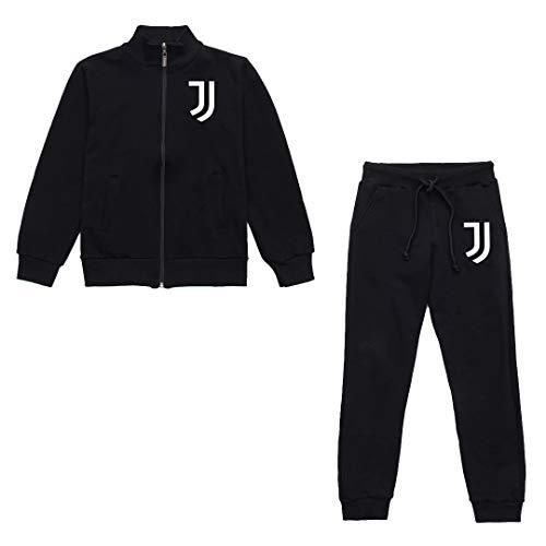 JUVE Juventus Tuta Bambino Core Teen - Collezione 2020/2021-100% Originale - 100% Prodotto Ufficiale - Colore Nero - Scegli la Taglia (12 Anni)