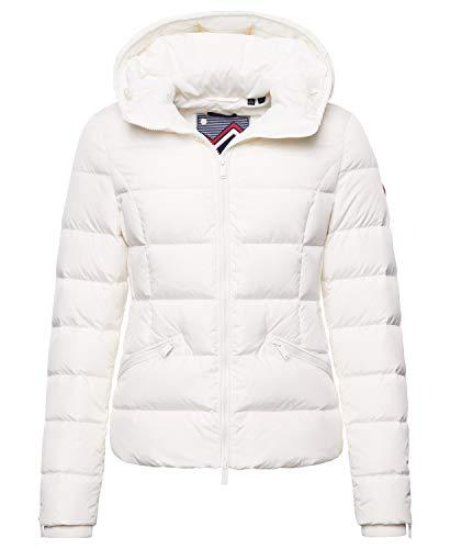 Superdry Femme Doudoune matelassée Premium Luxe Blanc Neige 36