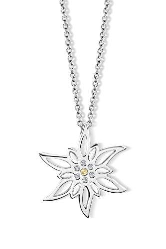Simone Edelweiss Halskette mit Swarovski® Kristallen