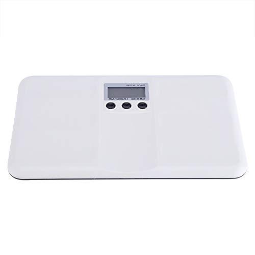 Leinggg Digitale weegschaal, LCD-digitaal, elektronische aan/tara-functie, batterij zwak/blokkering, alarm, babyhuisdier, lichaamsgewichtingsweegschaal